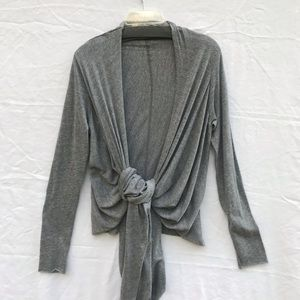 Anthropologie Grey Long Sleeve Wrap by Daftbird Lg